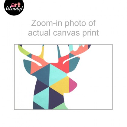 "Framed Art Print ""Geometric Deer Head"""