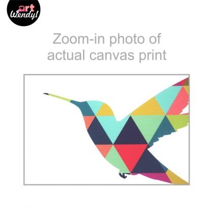 "Framed Art Print ""Geometric Woodpecker"""