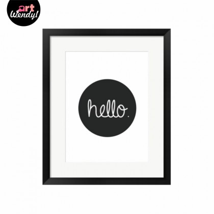 """Framed Art Print """"Hello"""""""