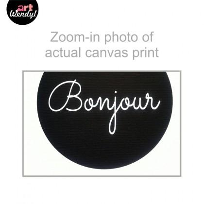"""Framed Art Print """"Bonjour"""""""