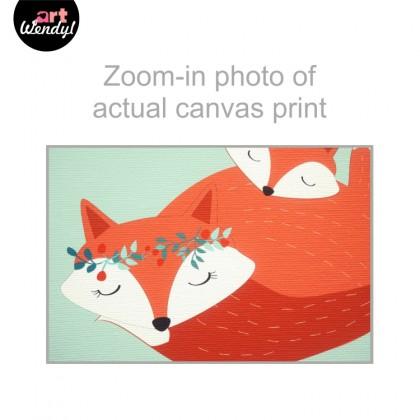 """Framed Art Print """"Snuggling Foxes I"""""""