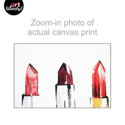 "Framed Art Print ""Three Lipsticks"""