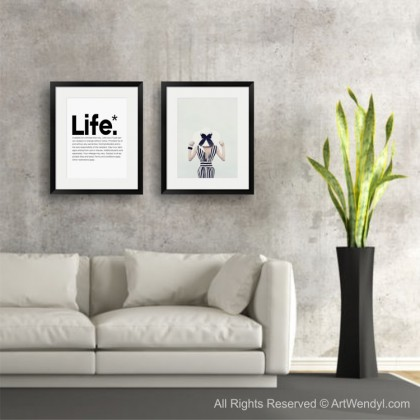 """Framed Art Print """"Lady with a Hat"""""""