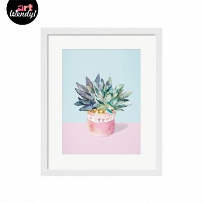 "Framed Art Print ""A Pink Pot of Plant"""