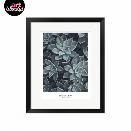 "Framed Art Print ""Succulent Plant III"""