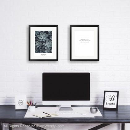 """Framed Art Print """"Breathe"""""""