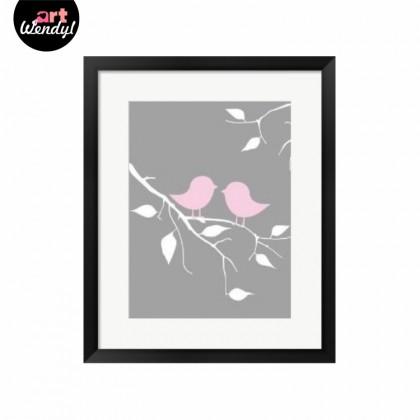 """Framed Art Print """"Two Love Birds"""""""