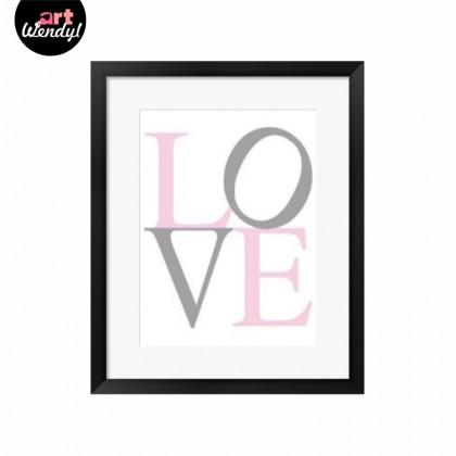 """Framed Art Print """"LOVE"""""""