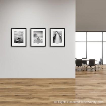 """Framed Art Print """"Life Journey - Wild Boat"""""""