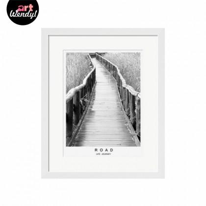 """Framed Art Print """"Life Journey - Road"""""""