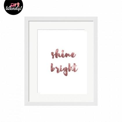 """Framed Art Print """"Shine Bright"""""""
