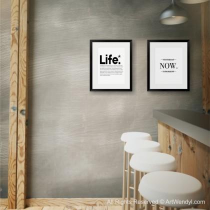 """Framed Art Print """"Life"""""""