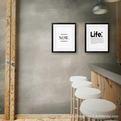 """Framed Art Print """"NOW"""""""