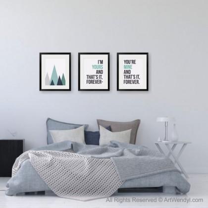 "Framed Art Print ""Abstract Mountain"""