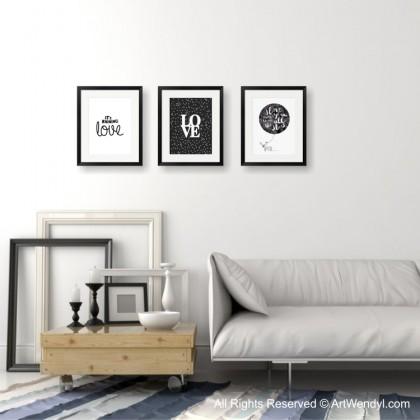 """Framed Art Print """"It's Raining Love I"""""""