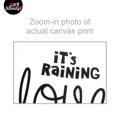 """Framed Art Print """"It's Raining Love II"""""""