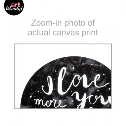 "Framed Art Print ""I Love You More Than All The Stars"""