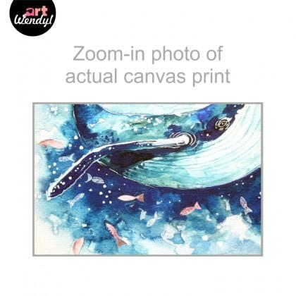 """Framed Art Print """"Whale"""""""