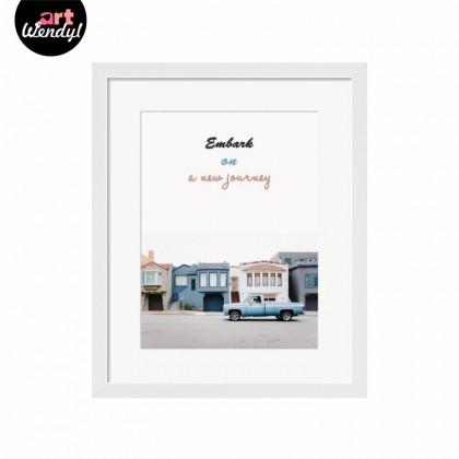 "Framed Art Print ""Embark On A New Journey II"""