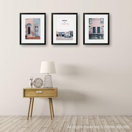 "Framed Art Print ""Embark On A New Journey III"""