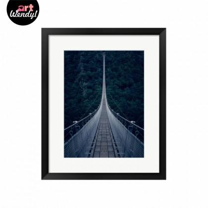 "Framed Art Print ""Suspension Bridge"""