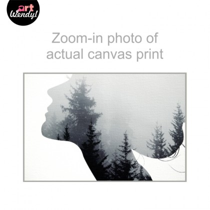 """Framed Art Print """"Woman Silhoutte With A Forest Background"""""""