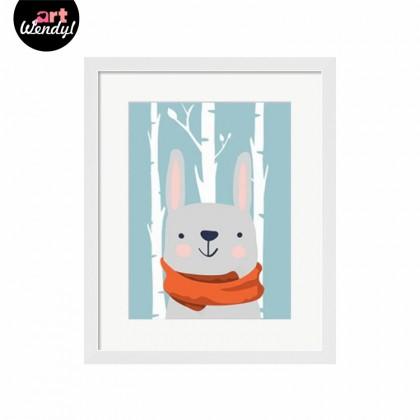 """Framed Art Print """"Winter Rabbit"""""""