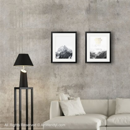 "Framed Art Print ""Magnificent Mountain"""