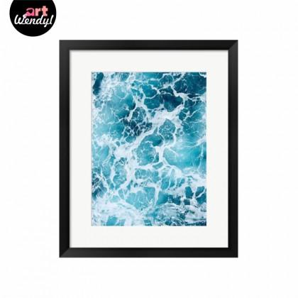 """Framed Art Print """"Ocean Waves"""""""