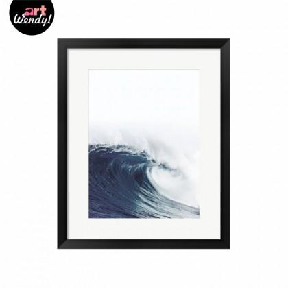 """Framed Art Print """"Big Waves"""""""